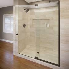 leaking shower door delta 36 in semi frameless contemporary pivot shower door glass