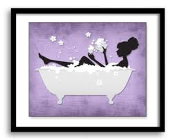 Black And Purple Bathroom Sets Bathroom Decor Bathroom Print Purple Plum Lime Green Set Of 3