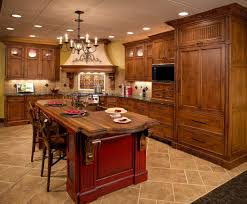 contemporary tuscan style kitchen mahogany kitchen island built in