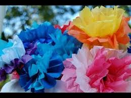 Paper Flowers Video - how to make tissue paper flowers with your kids beautiful