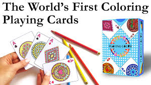 playingcolor the world u0027s first coloring playing cards by