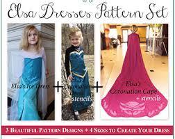Elsa Halloween Costumes Kids Elsa Frozen Complete Pdf Pattern Ice Dress Coronation