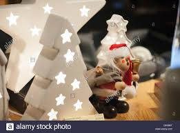 Christmas Decorations Shop Window Displays by Christmas Decorations On Sale In A Shop Window Display Stock Photo