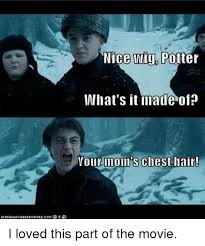 Your Moms Chest Hair Meme - ica nice wig potter what s it made of your mom s chest hair i