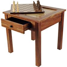 chess table trademark games deluxe wooden 3 in 1 chess and backgammon table