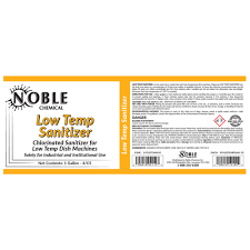 noble chemical 1 gallon low temp dish washing machine sanitizer