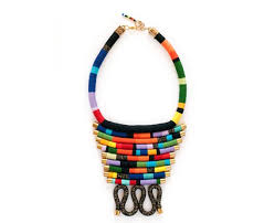 ethnic statement necklace images Rope statement necklace african rope necklace ethnic jpg