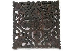 Thai Home Decor by Amazon Com Square Floral U0026 Heart Handmade Thai Teak Wood Carving