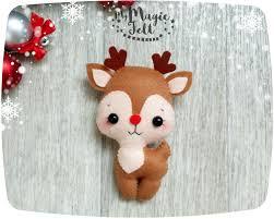 christmas ornaments felt reindeer christmas tree ornament