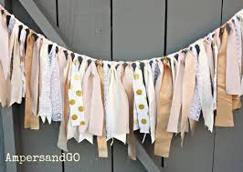 Bunting Flags Wedding Blush Pink Baby Shower Banner Gold Fabric Garland Pink Gold