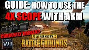 pubg 4x outdated guide how to correctly use the 4x scope with akm in