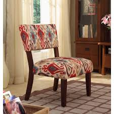 Funky Accent Chairs Impressive Homepop Multicolor Ikat Large Accent Chair Free Shipping Today Regarding Multi Colored Accent Chairs Modern Jpg
