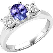 tanzanite stone rings images Three stone tanzanite diamond ring in 18ct white gold pdt492w png