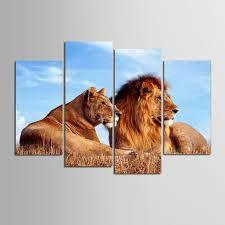imagenes abstractas hd de animales 4 unidades marcos acurrucarse animales león pintura abstracta