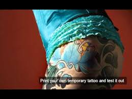 inkjet temporary tattoo paper youtube