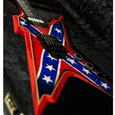 Confederate Flag Guitar Strap 8th Street Music Dean Usa Razorback Rebel Flag Paint