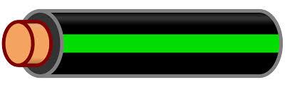 file wire black green stripe svg wikimedia commons