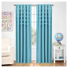 Turquoise Ruffle Curtains Grey Ruffle Curtains Target
