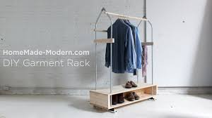 Home Made Modern by Diy Garment Rack Ep31 Youtube
