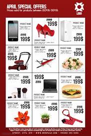 Sales Flyer Template multipurpose computer laptop phone fashion clothes electronic sale