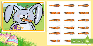 feed the easter bunny phase 2 phonics activity eyfs early