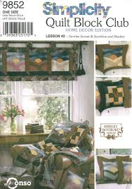 sewing patterns home decor simplicity 9852 quilt block club sewing pattern home decor edition