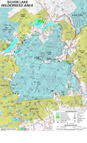 Adirondack Mountains Map Adirondack Directory Of Wilderness Regions Silver Lake Wilderness