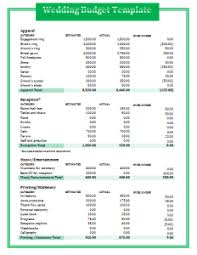 wedding budget template blank wedding budget template free word templates