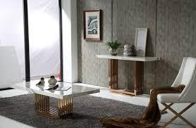 modrest kingsley modern marble u0026 rosegold console table console