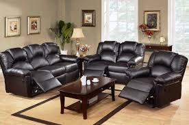 Black Leather Reclining Sofa Reclining Sofa Sets For Contemporary Living Room Style Newgomemphis