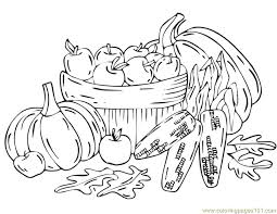coloring pages fall harvest natural autumn free printable