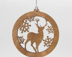 cat wood ornament playful cat silhouette laser cut