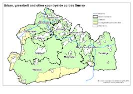 Surrey England Map by Surrey Map Showing Urban Areas Greenbelt And Other Countryside