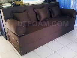 Sofa Bed Murah P U003esofa Bed Minimalis Coklat Tua Polos Special Inoac Edition