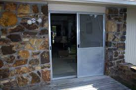 New Patio Doors Before And After A New Patio Door With Blinds Between The Glass