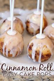 easy cinnamon roll cake pops recipe roll cakes cake pop and