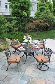Round Garden Table With Lazy Susan by St Augustine Outdoor Dining Set