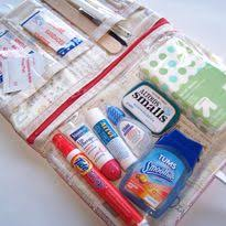 use this pattern for a travel makeup bag the plastic allows you to see where