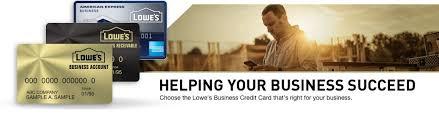 Business Card Credit Lowe U0027s Business