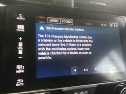 honda civic tire pressure warning message alerts on lcd screen tire pressure brake system