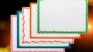 how to decorate borders of project files 5 attractive borders
