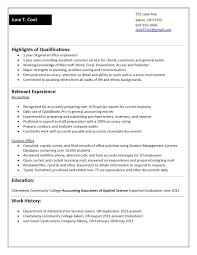 best jobs for accounting students job experience resume template best of sle resume no work