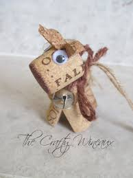 rustic unicorn wine cork ornament in chocolate brown the crafty