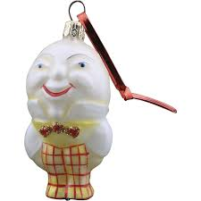 vintage radko 1995 humpty dumpty glass ornament nursery