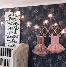 floral removable wallpaper cute girls nursery interior with dark floral removable wallpaper