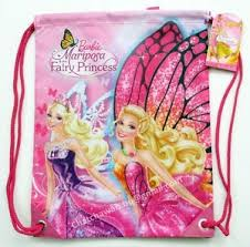 barbie mariposa fairy princess waterproof gym pe swim kids