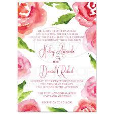 garden wedding invitations wedding invitations watercolor garden