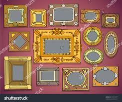 Wall Picture Frames by Group Picture Frames On Wall Vector Stock Vector 157281677