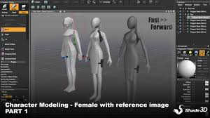 Female Body Reference For 3d Modelling Character Modeling Female With Reference Image Part 1 Shade 3d