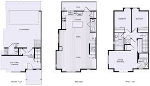 town home plans southern springs townhome plan b